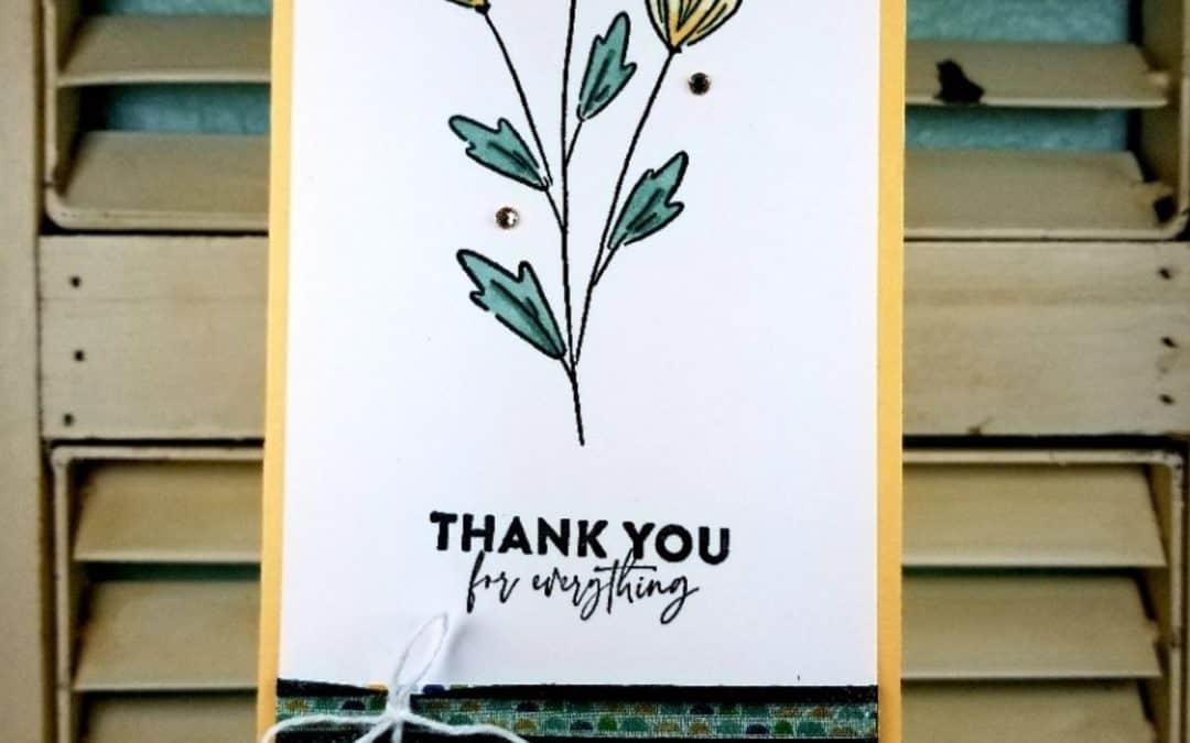 Flowers of Friendship Slimline Card